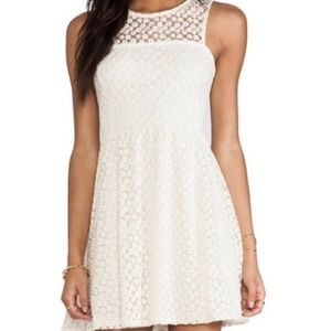Anthropologie Ella Moss white dress floral lace S